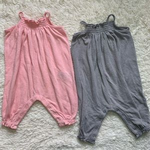 2 baby girl rompers from Old Navy